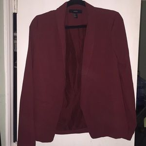 Burgundy Fashion Blazer